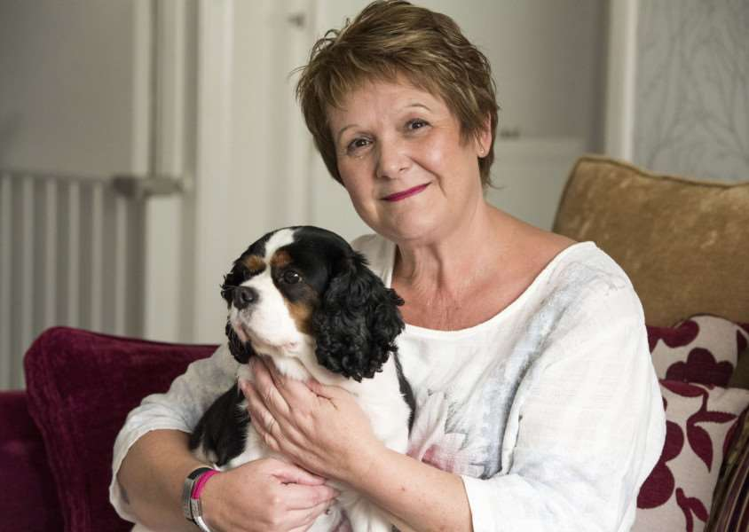 Lynda Robinson was rescued by Prince William after a fall at her home with her dog Lilly. 'Picture: Mark Westley
