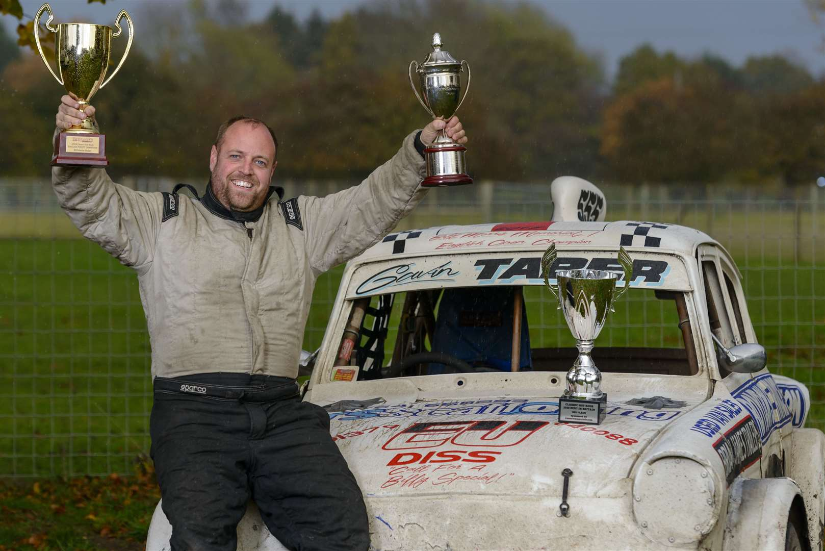 Gavin Taber winner, Classic Hot Rod English points Champion 2018 with his Ford Anglia car. ..Picture: Mark Bullimore Photography. (22027074)
