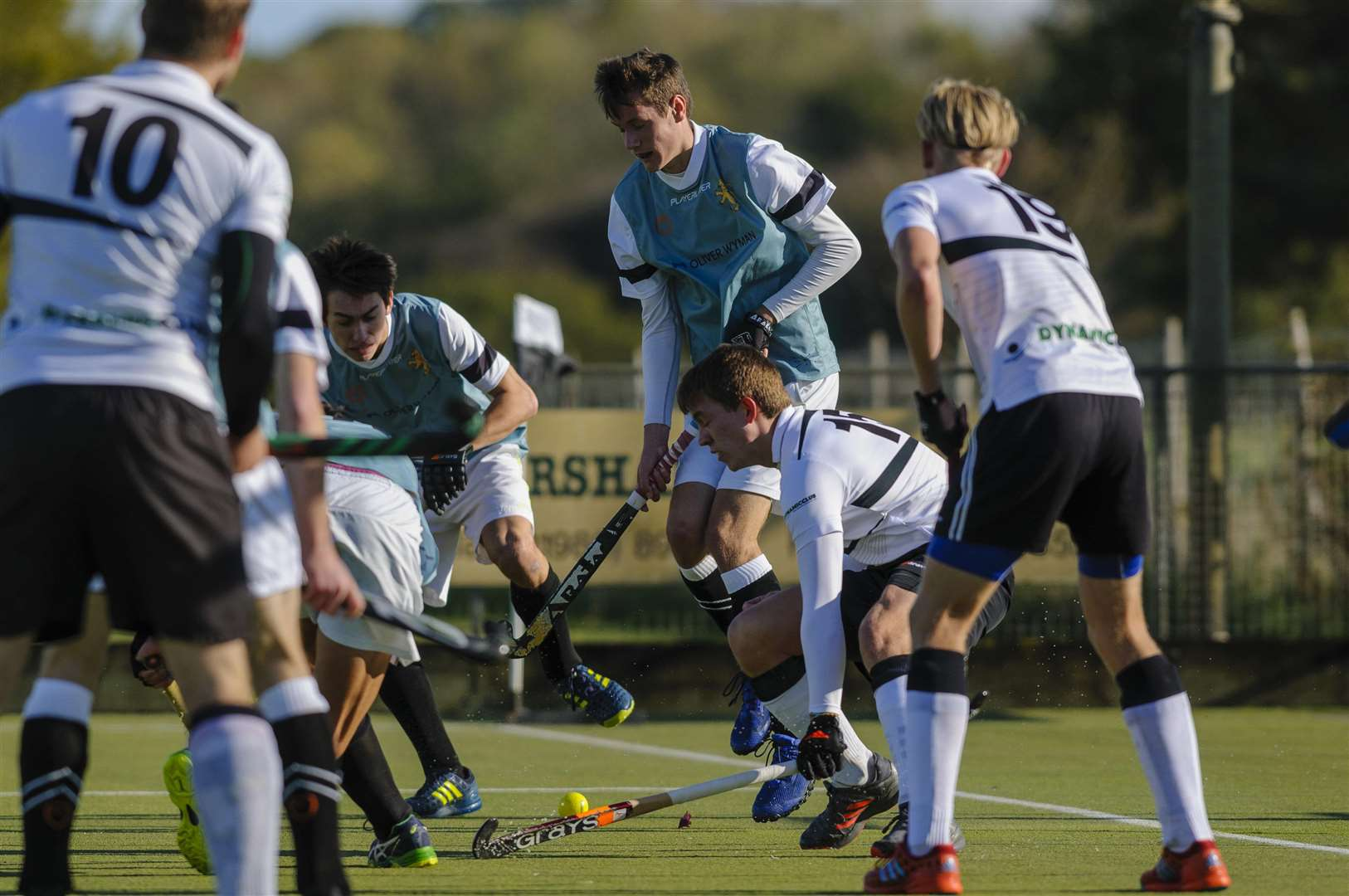 Weybread, Suffolk, UK, 27 October 2018..Hockey action from Harleston Men's 1 v Cambridge University...Picture: Mark Bullimore Photography. (5053019)