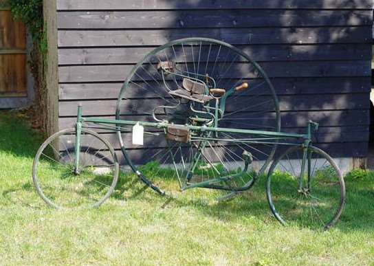 A rare, original 19th Century Coventry Lever tricycle, with a pre-auction estimate of �6,000- �8,000, is among the items up for auction. ANL-160927-142457001