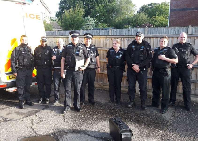 Norfolk Police officers executed drug warrants in Diss and Harleston. Photo credit: South Norfolk Police.