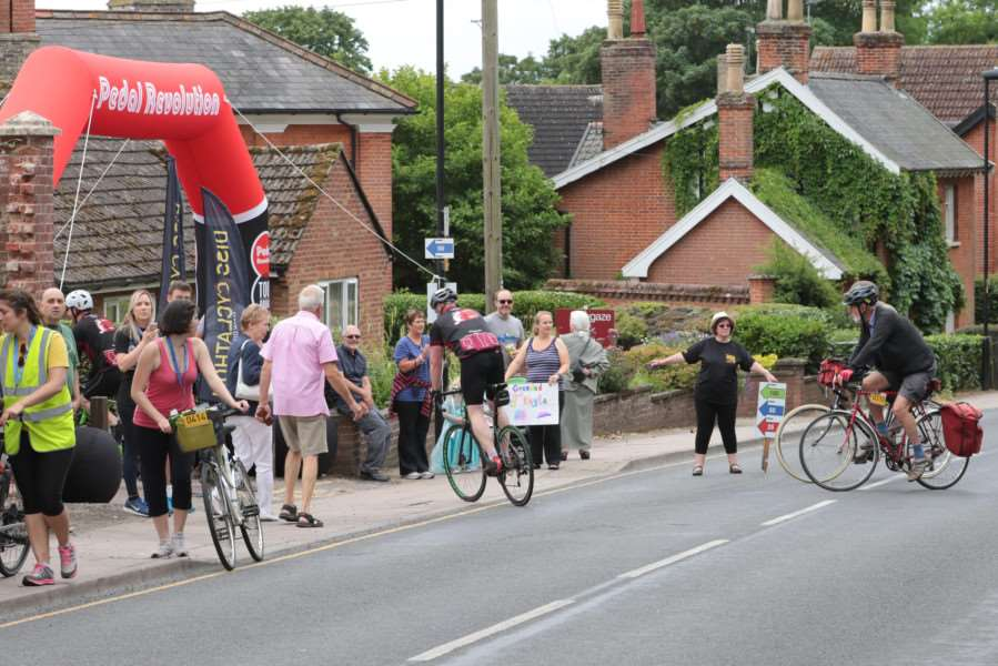 MDEP-25-06-2017-074 Diss Cyclathon 25th June 2017. Riders at the Finish