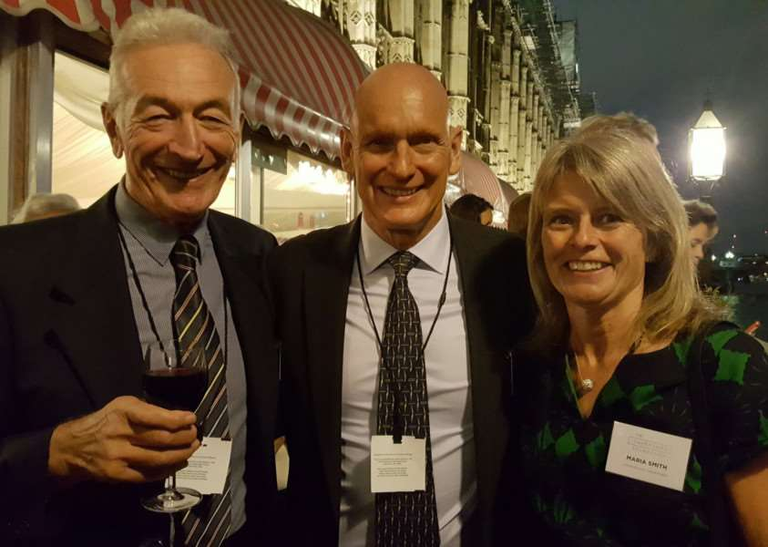 Left to right: Len Phoenix, Duncan Goodhew and Maria Smith at the House of Lords. Submitted picture.