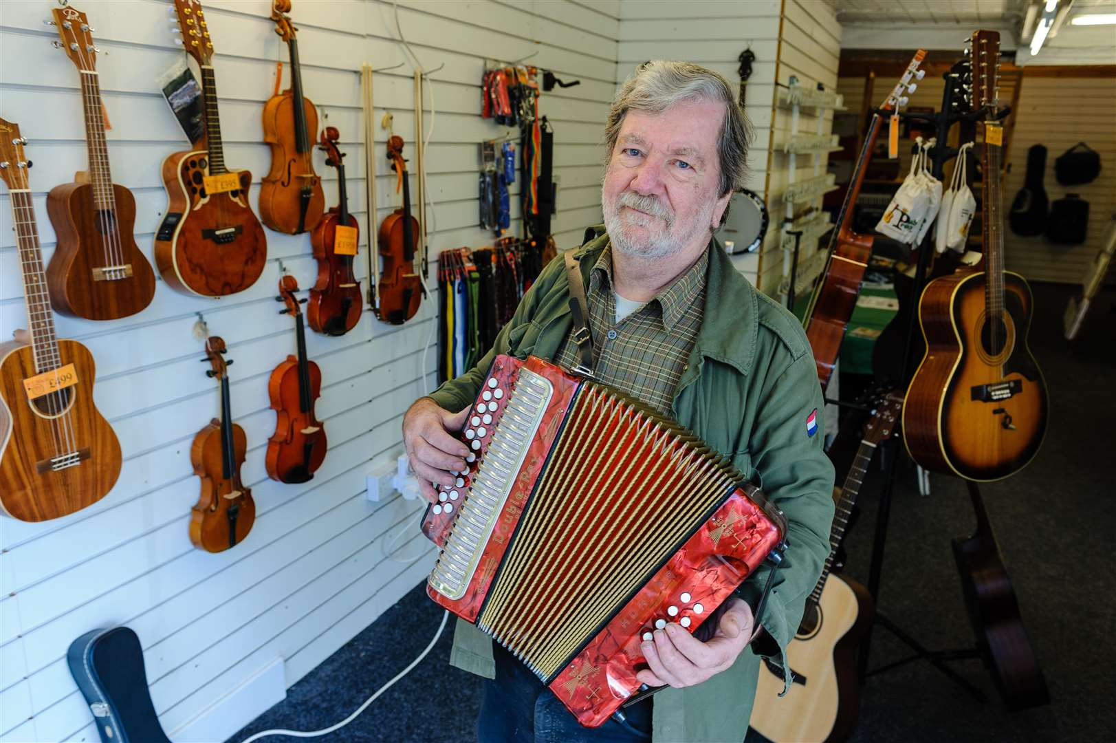 Pete Cunningham has opened music shop on Mere Street, which will be open for the next month. Picture by Mark Bullimore Photography