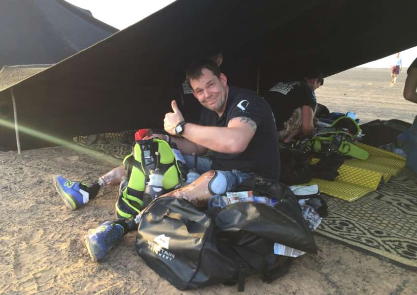 Scole's Duncan Slater taking part in the Marathon Des Sables in 2016. Submitted photo.