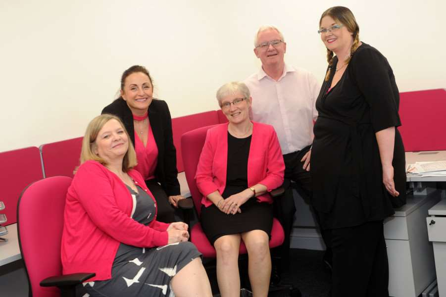 Diss training and development business CAKE People Development have moved to a larger site''Pictured: Margaret Burnside (Director), Shelley Measures (Marketing manager), Jo Tonnison (Programme Manager), Steve Burnside (Director) and Laura Burns (Programme Coordinator) '''PICTURE: Mecha Morton
