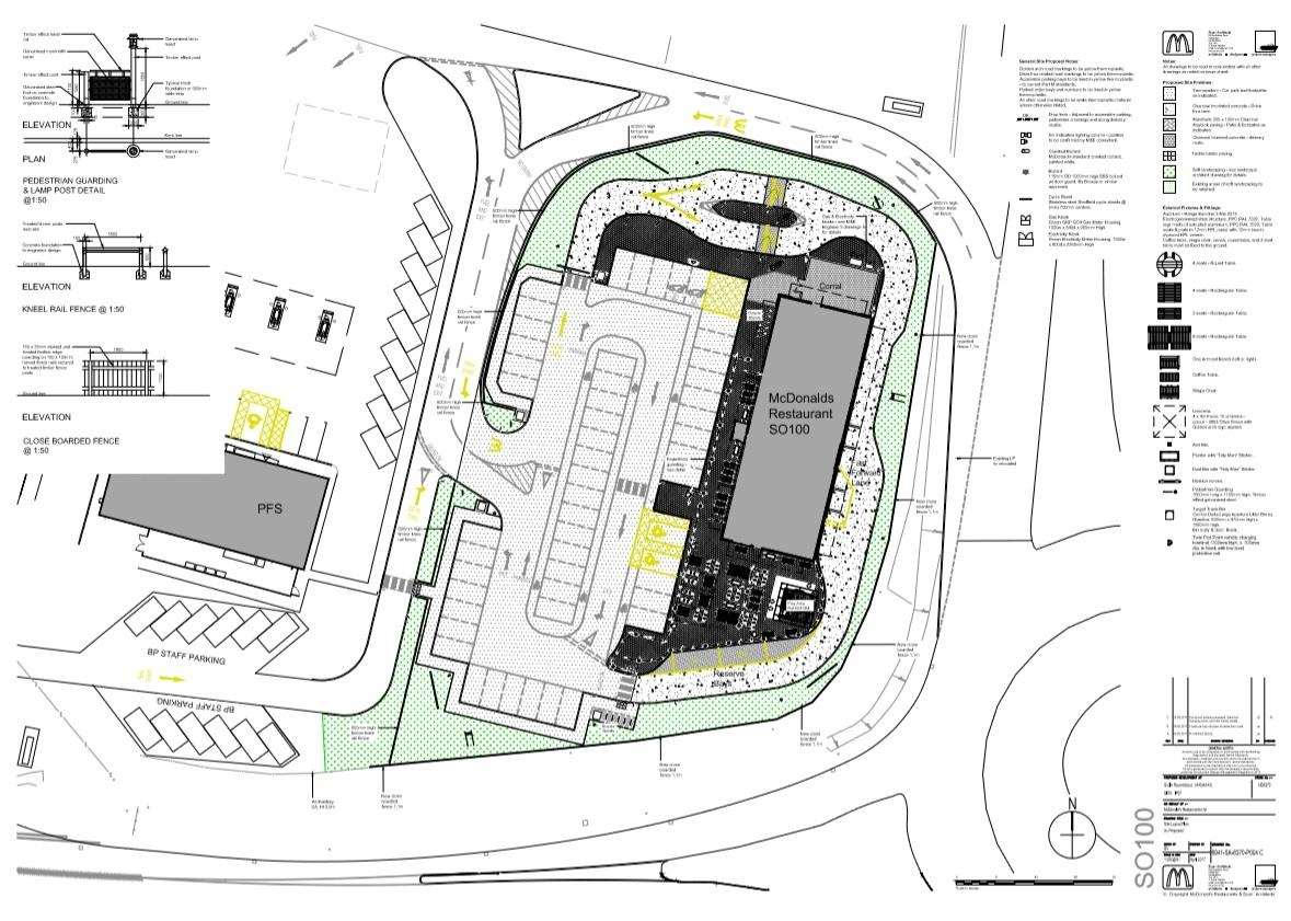 LAYOUT: The site is located at the A140 and A143 junction in Scole.