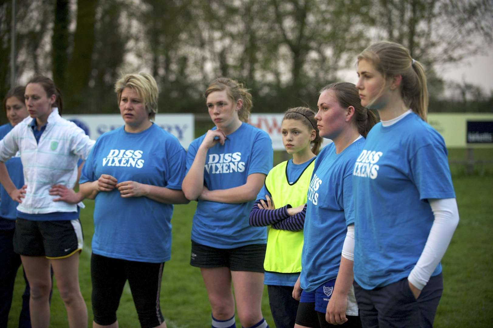 FORMER TEAM: The former Diss Vixens team pictured training in 2011
