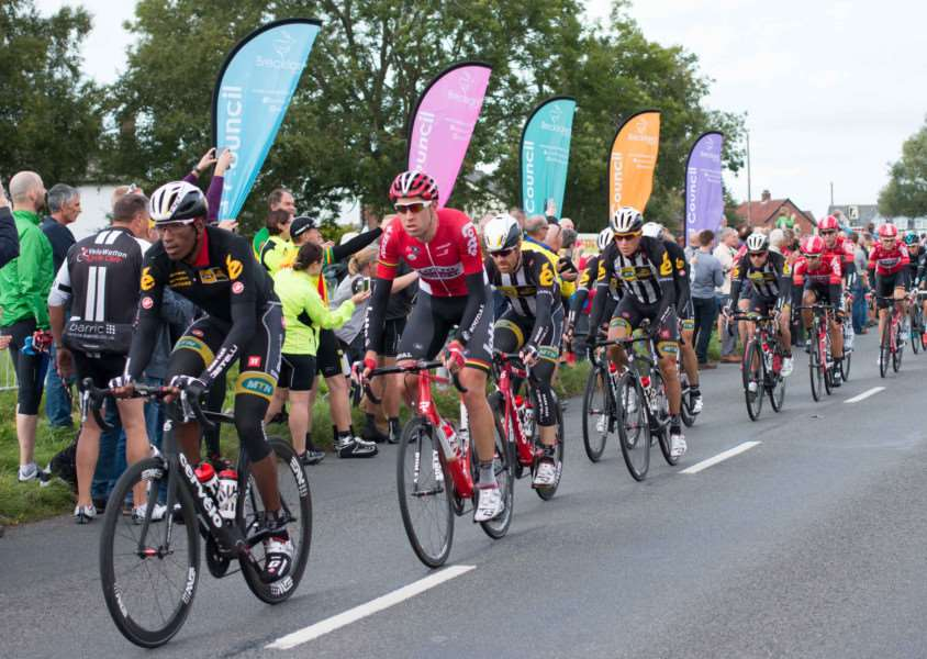 Tour of Britain 2015 rides through Norfolk.