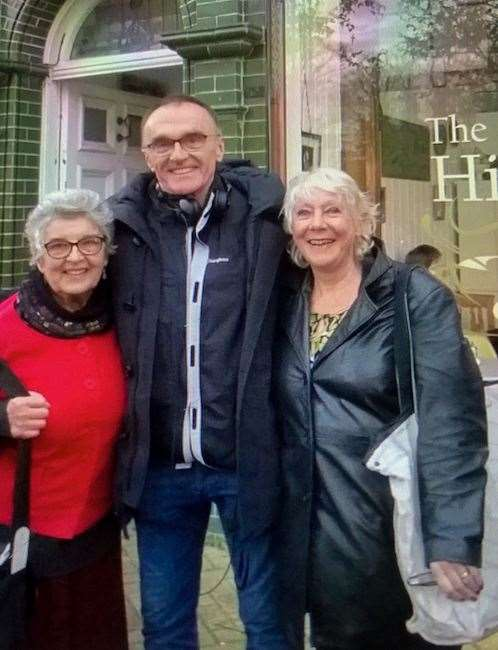 Irish Houseago, left, with director, Danny Boyle