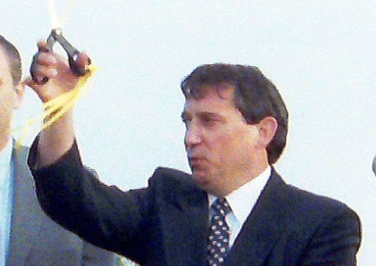 Graham Taylor with club chairman Tony Fisher at the opening of Fakenham FC Ground Clipbush Park on July 16th 1997, also action from the game Watford FC v Fakenham FC(Fakenham in Orange and Black kit) in 1997.