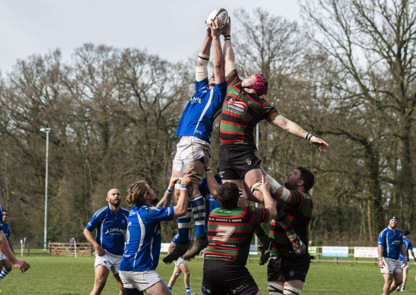 RISING HIGH: Action from Diss' defeat at the weekend