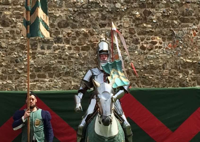 The champion of the west at the jousting tournament at Framlingham Castle