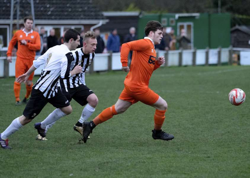 ON TARGET: Shaun Hunsdon was among the goals as Diss returned to winning ways against Dereham Reserves