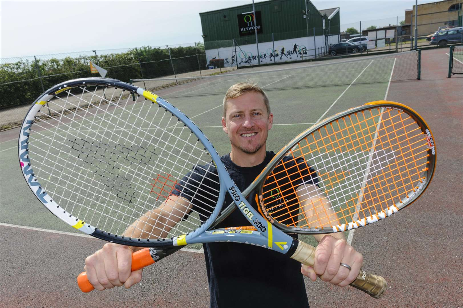 Tom Bobbins, of the Heywood Health and Fitness who's hoping to bring padel tennis to the region. Picture by Mark Bullimore.