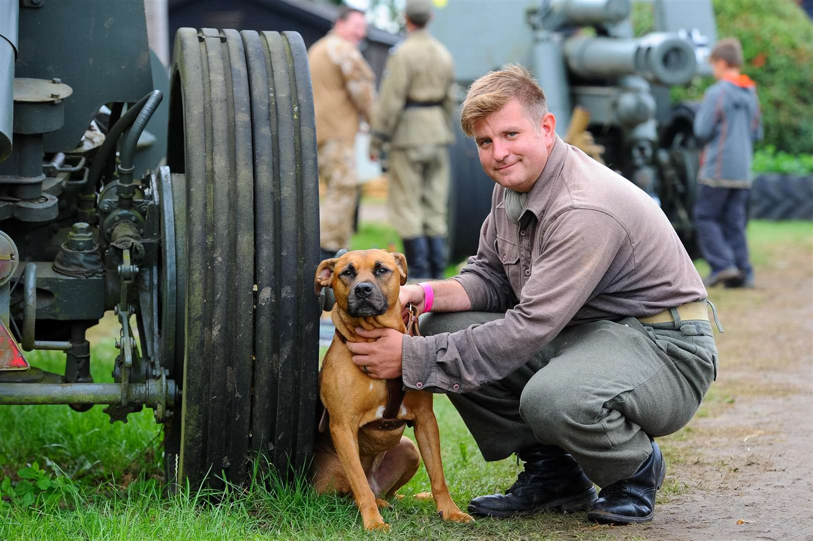 Simon Payne with his dog Is of Wiking a living history group based upon 5th SS Panzer Division (3552965)