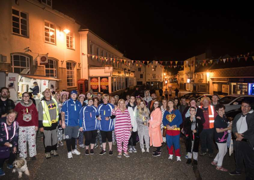 'Diss - midnight walk to raise money for the Alzheimer's Society. Picture: Al Pulford.