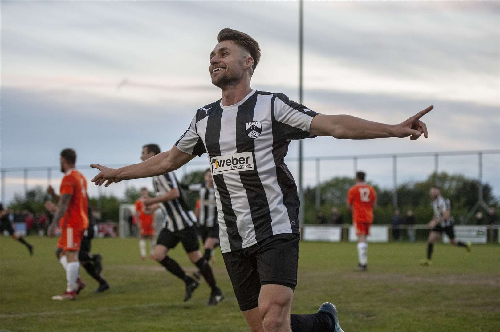 First Division North runners-up Harleston Town win 2018/19 Thurlow Nunn League First Division Knockout Cup final at Woodbridge Town, beating First Division South side Holland 6-0. Picture: Neil Dady (9408127)