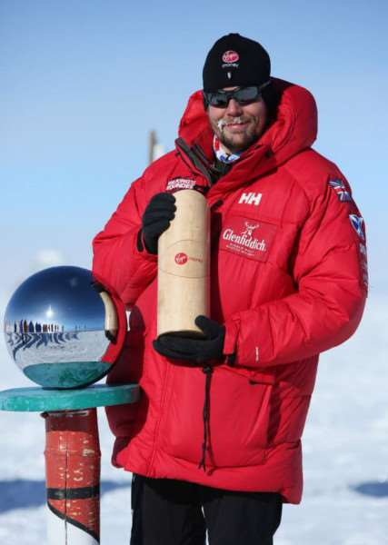 Duncan Slater at the South Pole
