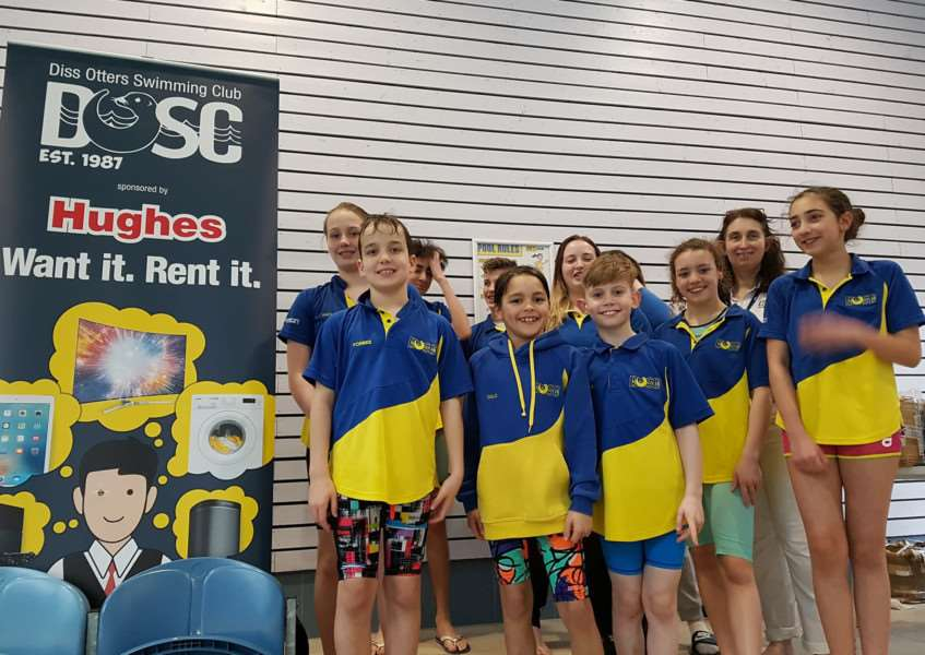 TOP TEAM: Diss Otters were all smiles after their success in Ipswich