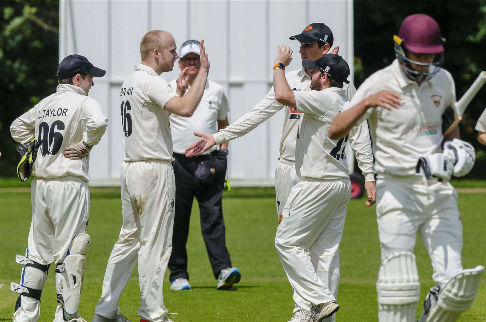 Diss (pictured celebrating a wicket earlier in the season) find themselves in the relegation zone after 10 matches