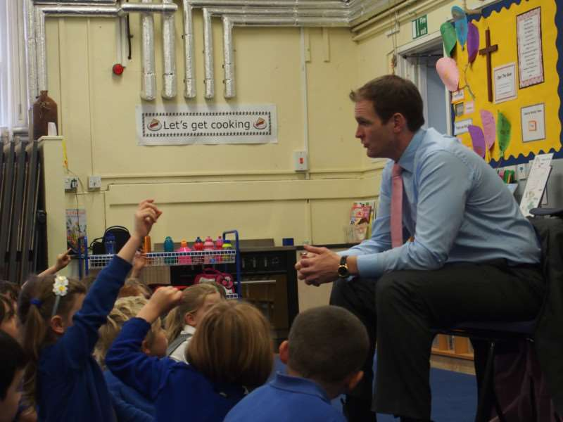 BURSTING AT THE SEAMS: Dr Dan Poulter MP believes Palgrave needs a bigger primary school.