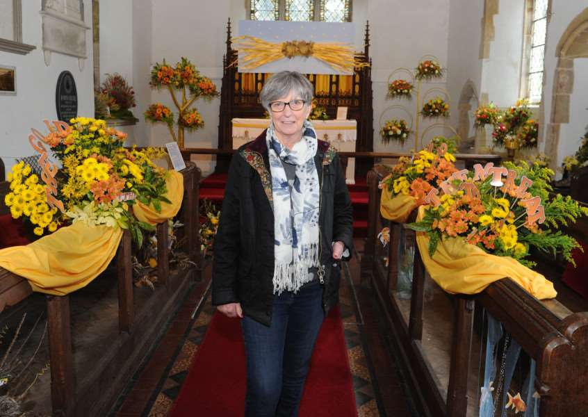 Golden Anniversary Flower Festival at Finningham Church ''Pictured: Lily Elsey ANL-160205-151338009