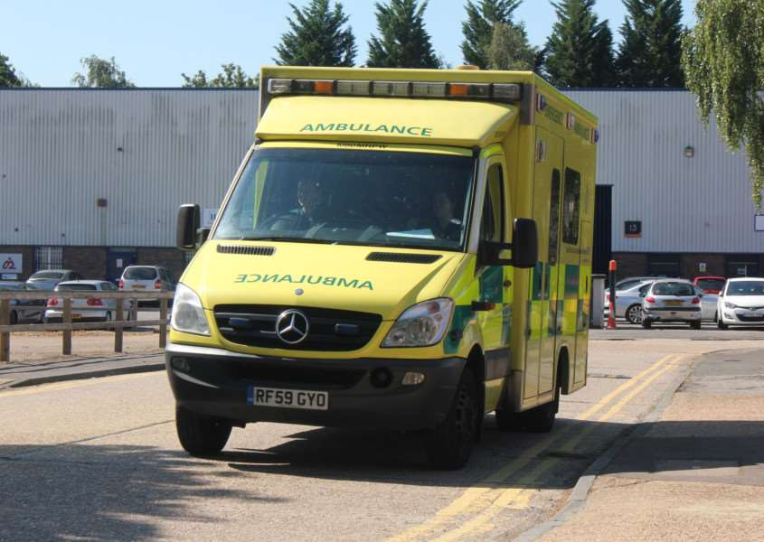 A man has been taken to hospital after falling off a bike this morning