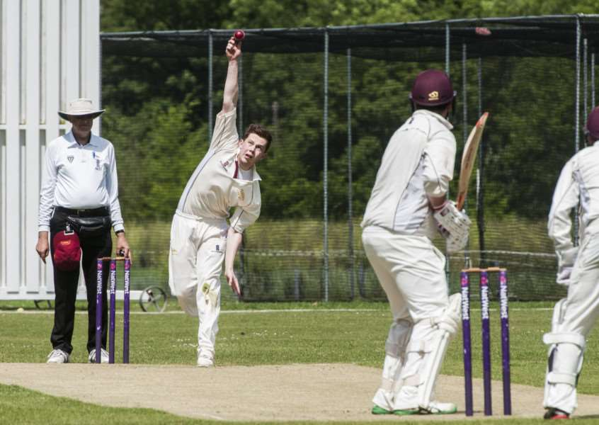 DOUBLE STRIKE: Alex Hogg took Downham wickets at the weekend