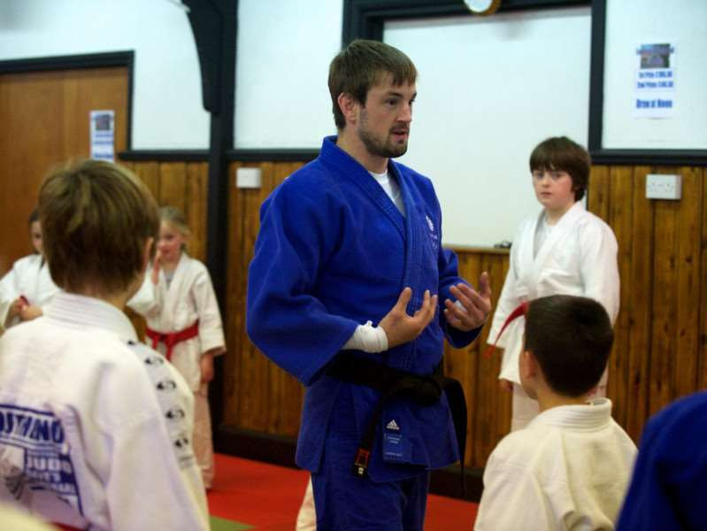 HOME TOWN: Colin Oates took a Judo Training Session at the Lopham's Village Hall, in the place he grew up