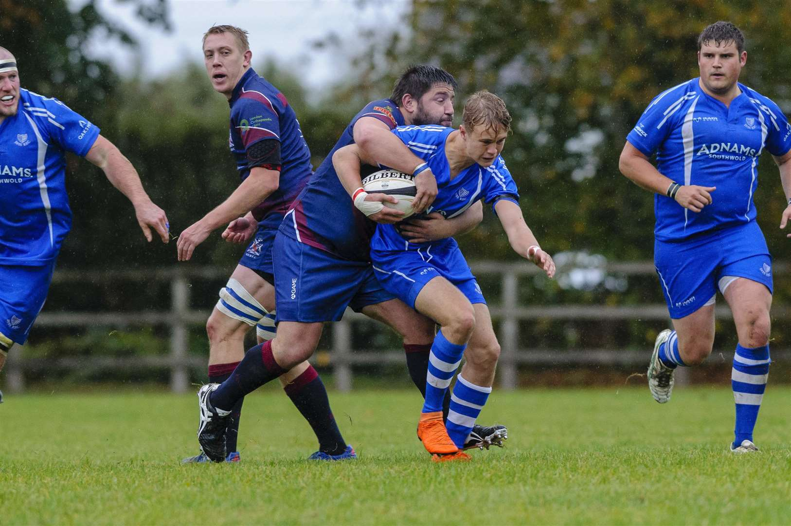 Roydon, Norfolk, UK, 06 October 2018..Rugby action from Diss v Old Haberdashers - George Jones..Picture: Mark Bullimore Photography. (4635736)