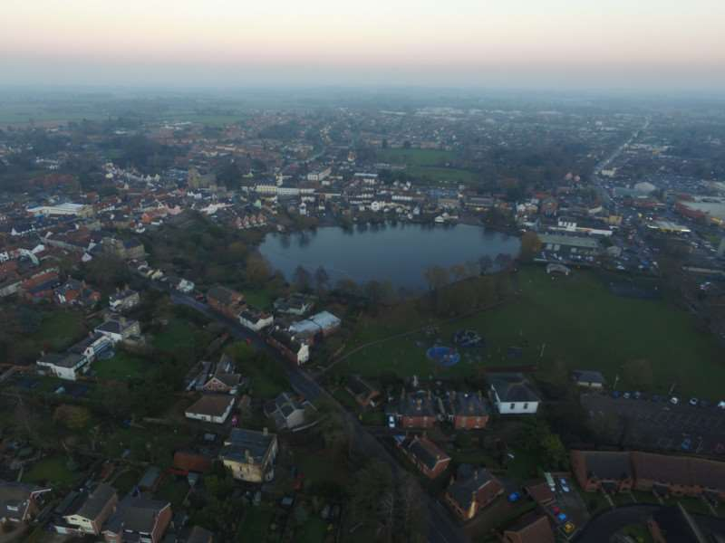 Drone footage of Diss, captured by town resident Jonathan Beer.