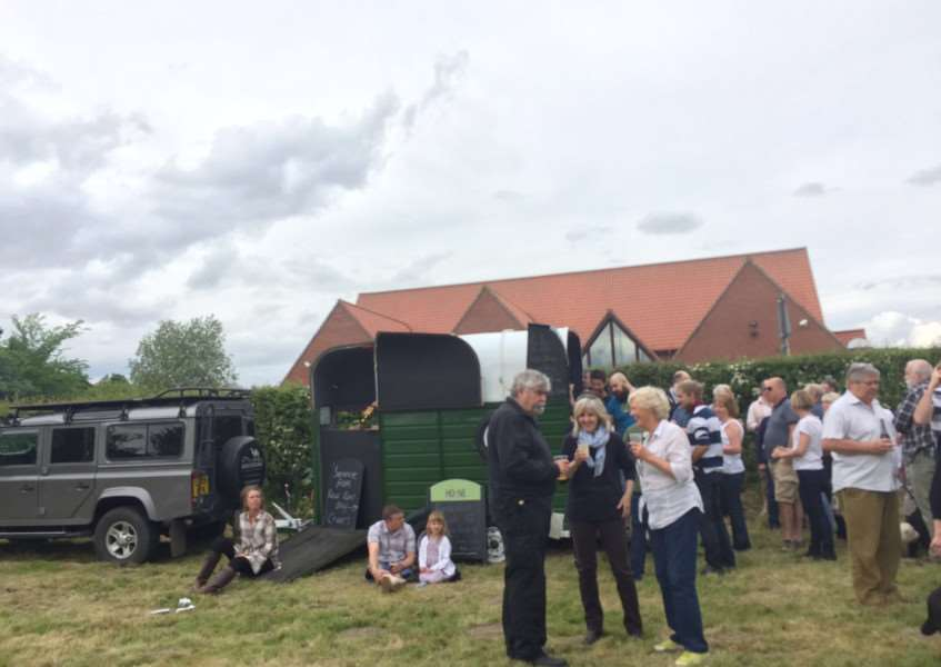 More than 200 people turned out to celebrate the creation of the Garboldisham Fox Community Interest Company on Sunday. ANL-160525-103110001