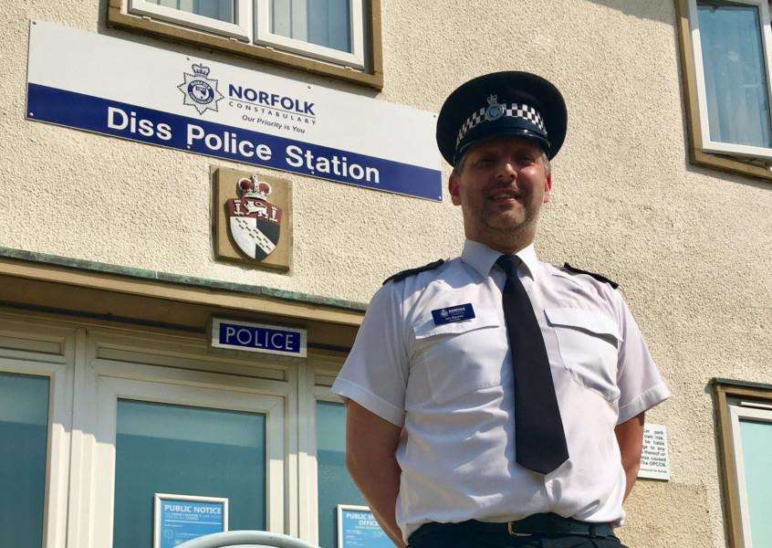Pc Jim Squires, Engagement Officer for South Norfolk, at Diss Police Station. Picture: Andrew Martin.