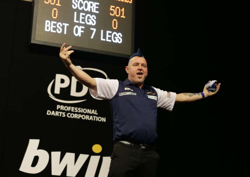 WELCOME RETURN: Mendham-based thrower Peter Wright was scheduled to represent Scotland in the Betway World Cup of Darts last night Picture: PDC Europe