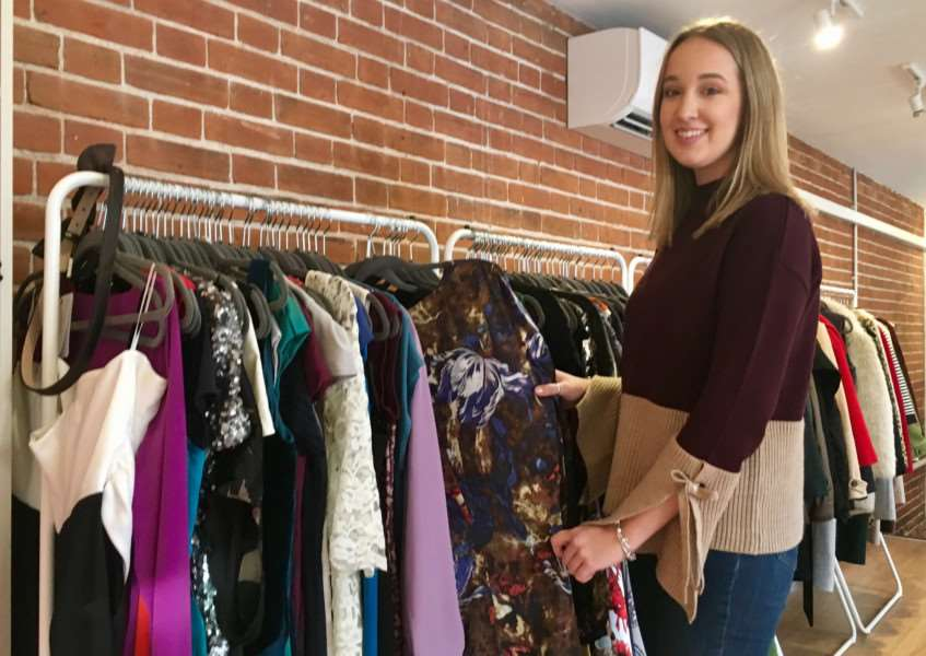 Chloe Howard in her new store, So Fetch Dress Agency, in Cobbs Yard, Diss. Picture: Andrew Martin.
