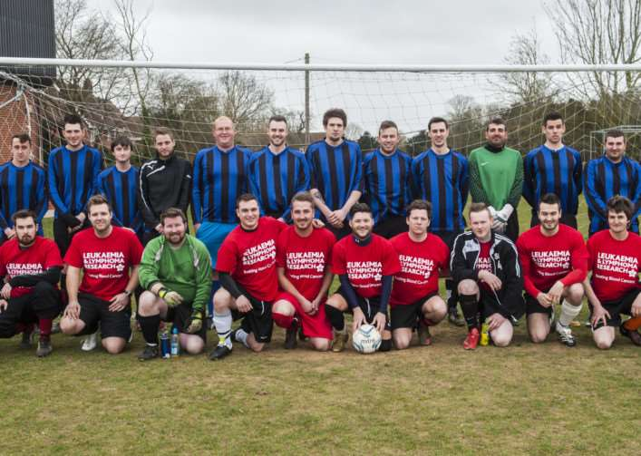 Charity football match at Stradbroke, for a lad whose mother died of cancer. ANL-150322-153517005