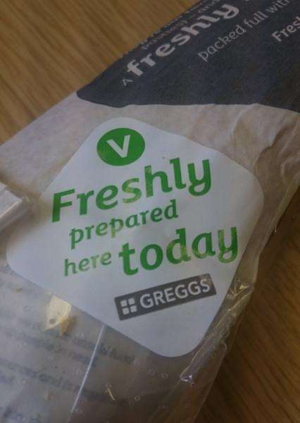 A Diss resident claims maggot eggs were on a sealed baguette bought from the Greggs store in the town.