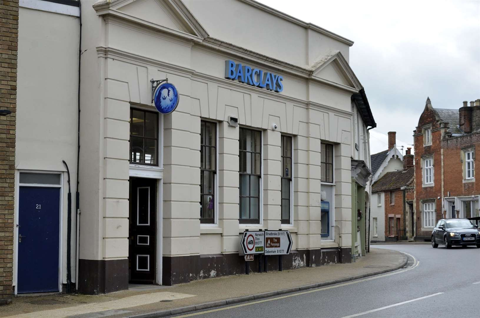 Barclays Bank in Eye, which shut in September last year.