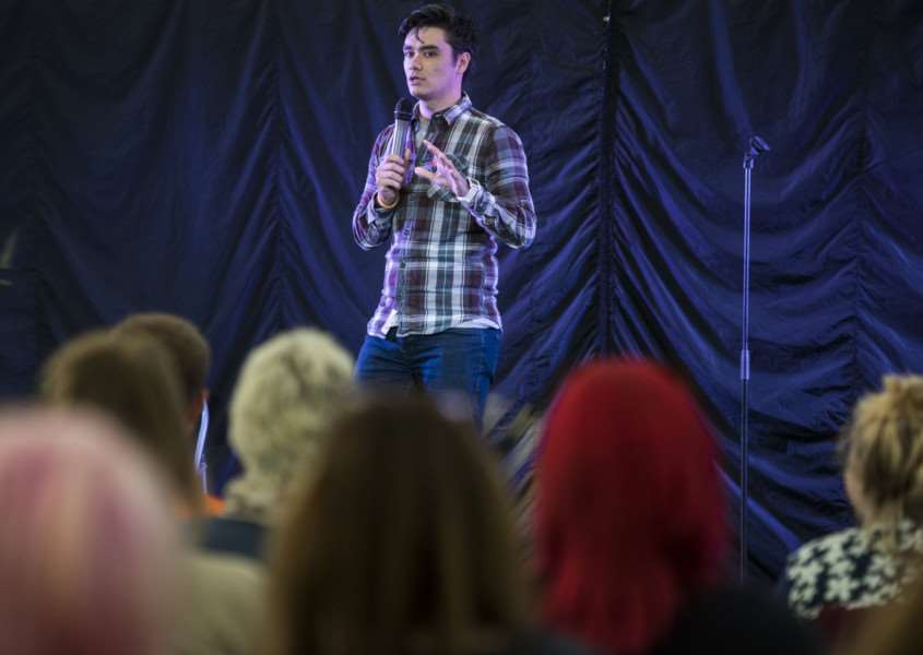 Diss Fest, in Diss Park. Comedy in the park. Rik Carranza