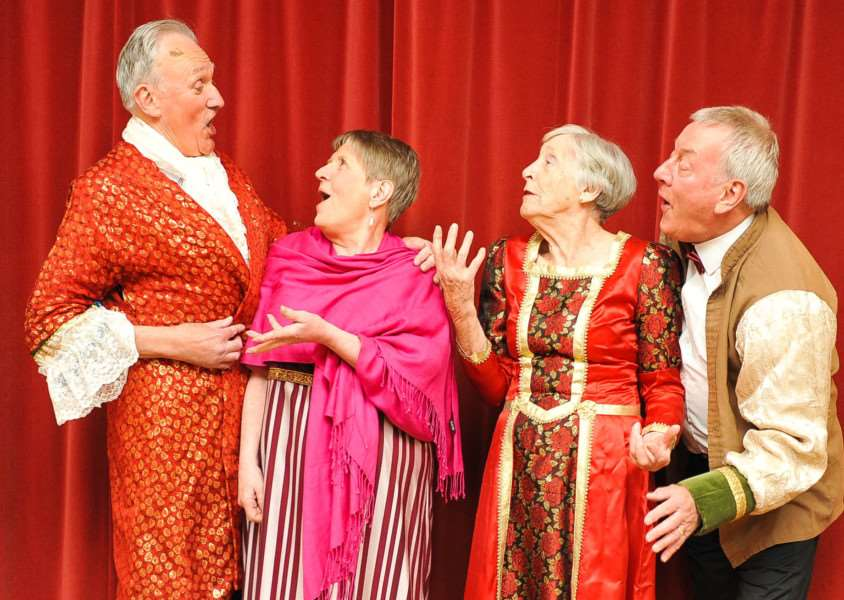 WARTS theatre company promote their latest production. FL; ANL-150405-192056009