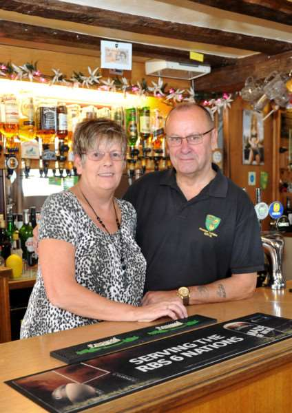 Peter and Jan Mills are leaving the White Horse, Diss, after 26 and a 1/2 years ANL-150508-144126009
