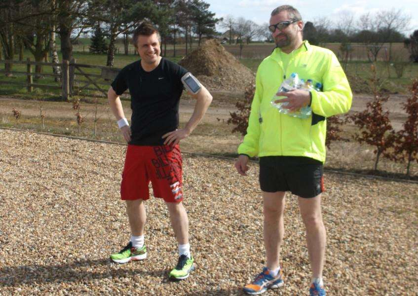 James (left) and Alex Cole are to run the London Marathon in aid of Great Armond Street Hospital ANL-150422-175813001