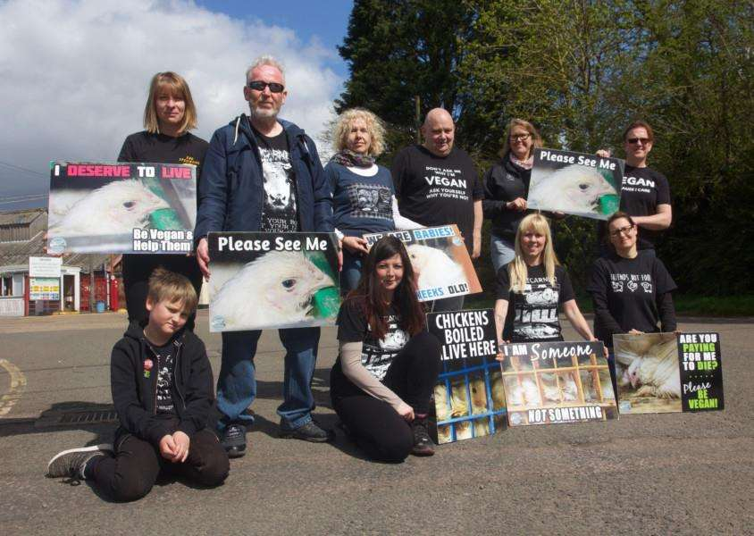 Campaigners from Suffolk Animal Save