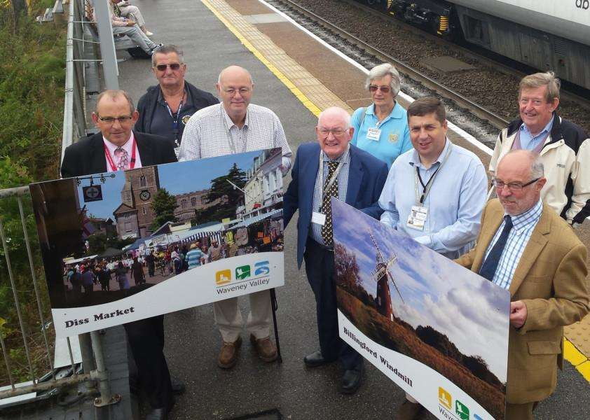 Images of the Waveney Valley were launched officially at Diss Rail Station. ANL-160819-144114001