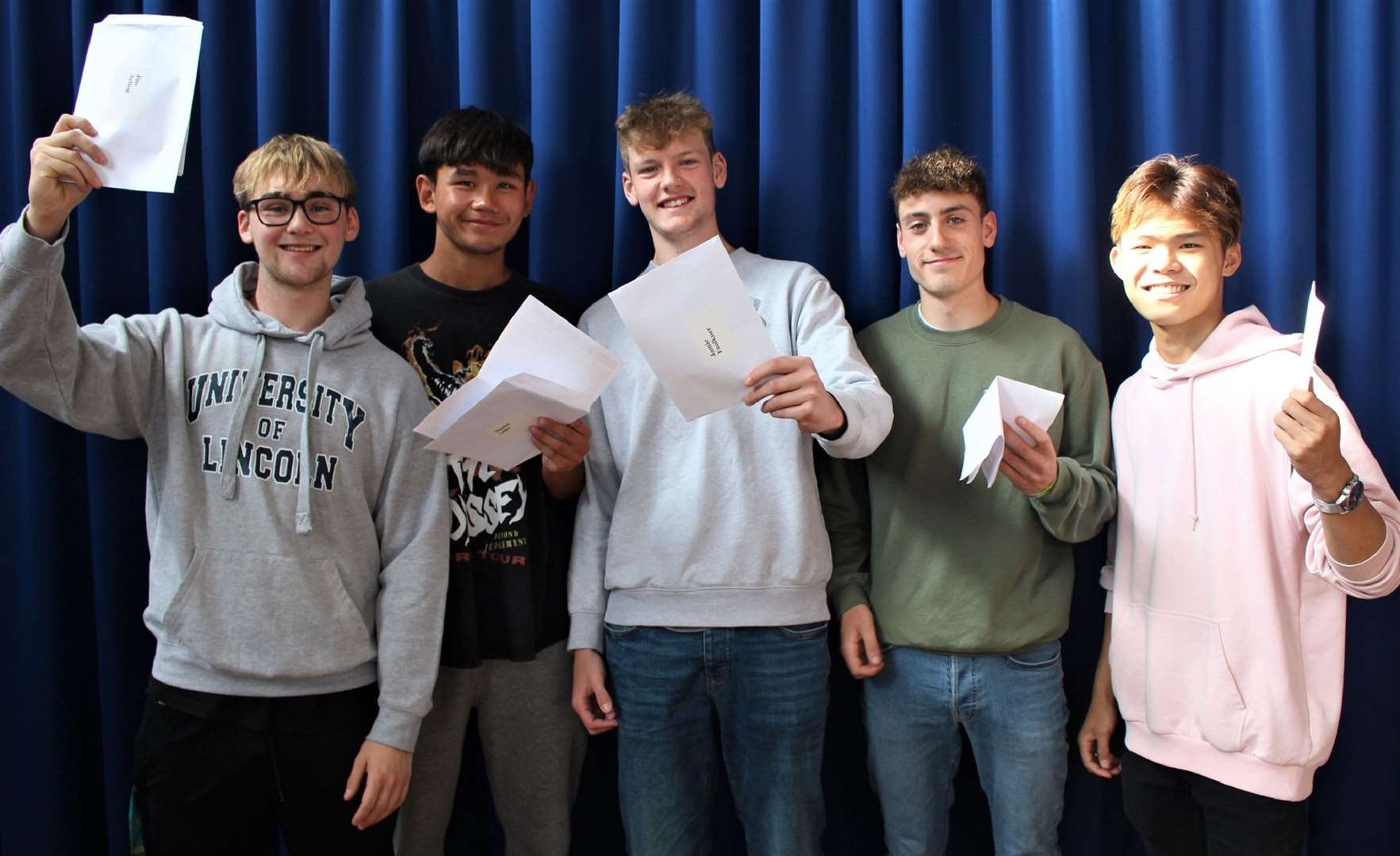 Attleborough Academy Norfolk students receive their results.
