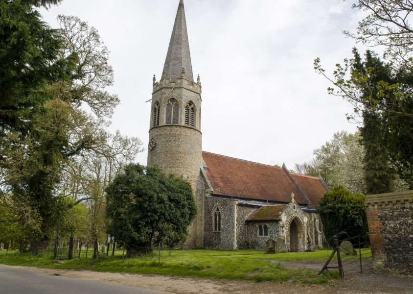 Quidenham, Norfolk. �15,000 worth of damage was caused after thieves stole lead off the roof of St Andrews Church in Quidenham. They broke through a fence and drove over graveyard to steal it. ''Picture: MARK BULLIMORE PHOTOGRAPHY