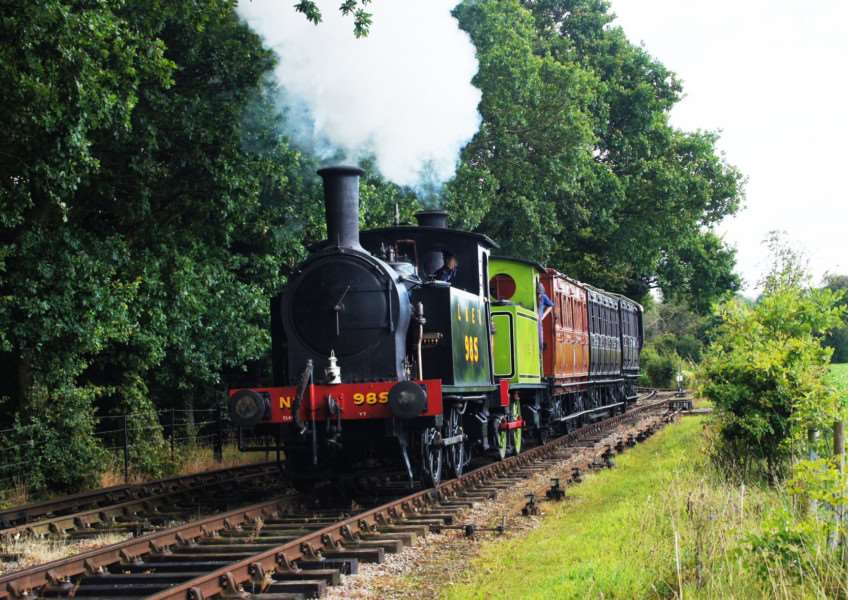 Reunited engines on the Mid Suffolk Light Railway line. Submitted picture.