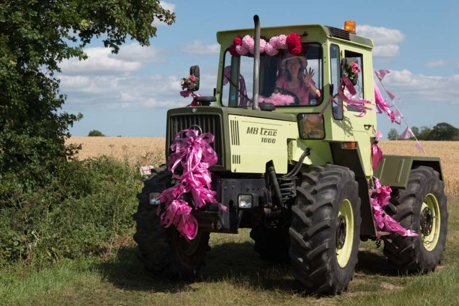 The Pink Ladies Tractor Road Run 2017. Photo: Jonathan Slack.