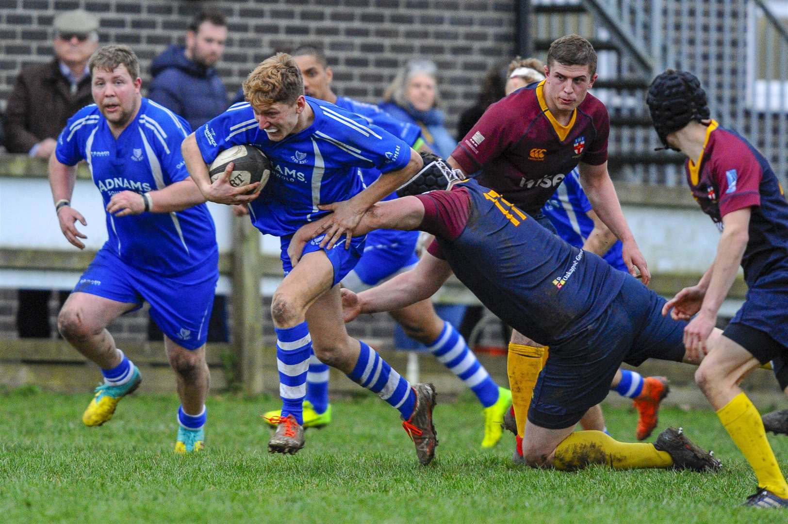 Rugby action from Diss v HAC - Will Thomson..Picture: Mark Bullimore Photography. (7528159)